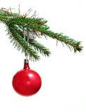 Rétro ornements sur l'arbre de Noël Photographie stock libre de droits