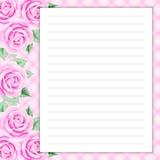 Rétro page pour des notes Images stock