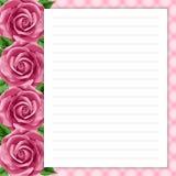 Rétro page pour des notes Image libre de droits