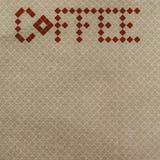 Rétro papier peint de café Photos stock