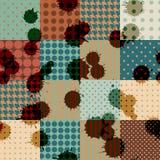 Rétro patchwork avec des blombs Photos libres de droits