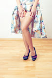 Rétro pattes de femme Photographie stock libre de droits