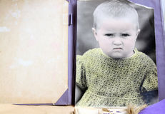 Rétro photo de l'enfant Image libre de droits