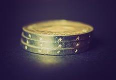 Rétro pièce de monnaie de la RDA de regard Photos libres de droits
