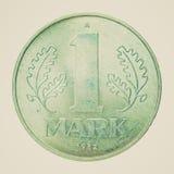 Rétro pièce de monnaie de la RDA de regard Photo libre de droits