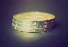 Rétro pièce de monnaie de la RDA de regard Photo stock