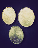 Rétro pièce de monnaie de la RDA de regard Image libre de droits