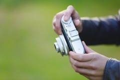 Rétro plan rapproché d'appareil-photo Image libre de droits