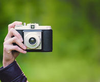 Rétro plan rapproché d'appareil-photo Image stock