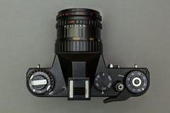 Rétro plan rapproché noir de caméra Concept photographie stock libre de droits