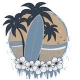 rétro planche de surfing grunge Images libres de droits