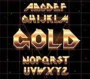 rétro police d'alphabet de 80 s Photographie stock