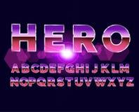 rétro police d'alphabet de 80 ` s Style d'avenir de la science fiction Photo libre de droits