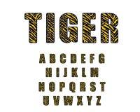 rétro police d'alphabet de 90 s Vecteur 80 s, les années 1990 de Tiger Vintage Alphabet illustration stock