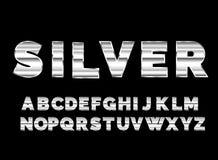 Rétro police d'alphabet Style d'avenir de la science fiction Images stock