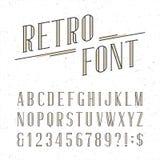 Rétro police de vecteur décorative d'alphabet Photographie stock libre de droits