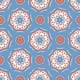 Rétro polka Dot Circles Seamless Pattern Texture abstraite pointillée sur toute la surface pendant les années 1950 illustration libre de droits