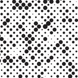 Rétro polka grunge tramée noire et blanche Dots Mess Background Pattern Texture illustration libre de droits