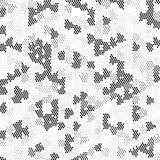 Rétro polka grunge tramée noire et blanche Dots Mess Background Pattern Texture illustration stock