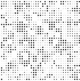 Rétro polka grunge tramée noire et blanche Dots Mess Background Pattern Texture illustration de vecteur
