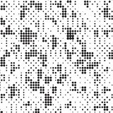 Rétro polka grunge tramée noire et blanche Dots Mess Background Pattern Texture illustration stock