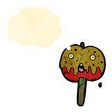 rétro pomme de caramel de bande dessinée Photo libre de droits