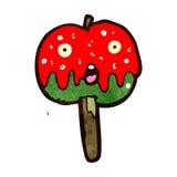 rétro pomme de caramel de bande dessinée Image stock