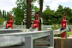 Rétro pompe à eau Images libres de droits
