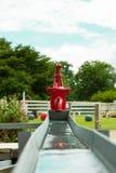 Rétro pompe à eau Photographie stock libre de droits