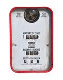 Rétro) pompe d'essence rouge de vintage ( Photos stock