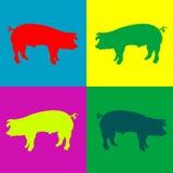 Rétro porcs Illustration de Vecteur
