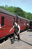 Rétro portier ferroviaire, Highley Photo libre de droits