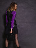 Rétro portrait de fille de Steampunk Photographie stock