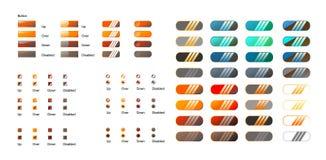 Rétro positionnement moderne de bouton illustration stock