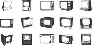rétro positionnements TV Image libre de droits