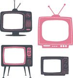 Rétro poste TV Photographie stock libre de droits