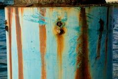 Rétro poteau de fer du port Images libres de droits