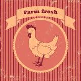 Rétro poulet Photo stock