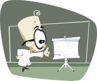 Rétro professeur de la Science de dessin animé Photo stock
