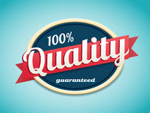 Rétro qualité d'insigne Images stock