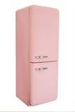 Rétro réfrigérateur rose Images libres de droits