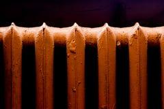 Rétro radiateur de la chaleur Photo libre de droits