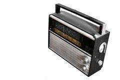 Rétro radio d'isolement photos libres de droits