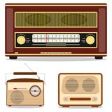 Rétro radio, rétro poste radio Écoutez la station de radio Images libres de droits