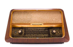 Rétro radio sur le blanc Photographie stock libre de droits