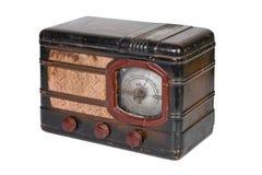 Rétro radio sur le fond blanc Photographie stock libre de droits