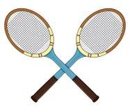 Rétro raquette de tennis Photographie stock libre de droits