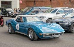 Rétro rassemblement Pastenague de Chevrolet Corvette C3 photographie stock libre de droits