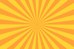 Rétro rayon de rayon de soleil dans le style de vintage Fond abstrait de bande dessinée