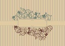 Rétro remous et carte de guindineaux illustration stock